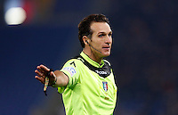 Calcio, Serie A: Lazio vs Juventus. Roma, stadio Olimpico, 4 dicembre 2015.<br /> Referee Luca Banti gestures during the Italian Serie A football match between Lazio and Juventus at Rome's Olympic stadium, 4 December 2015.<br /> UPDATE IMAGES PRESS/Riccardo De Luca