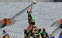 Ben Morris of Taieri and Josh Clark of Green Island during the Dunedin Premier club rugby final between Green Island and Taieri played at Forsyth Barr Stadium in Dunedin, on Saturday 31st July, 2021. © John Caswell/Caswell Images