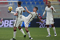 Gianluca Mancini and Bryan Cristante of AS Roma in action during the Serie A football match between FC Crotone and AS Roma at stadio Ezio Scida in Crotone (Italy), January 6th, 2020. Photo Gino Mancini / Insidefoto