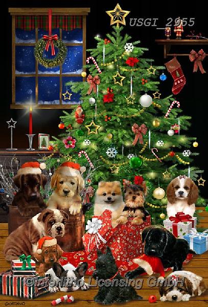 GIORDANO, CHRISTMAS ANIMALS, WEIHNACHTEN TIERE, NAVIDAD ANIMALES, paintings+++++,USGI2955,#xa#