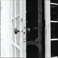 Opened door with screen door<br />