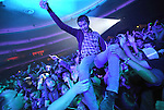 The Fans crowd surf while Blink 182 performs live in at The Hollywood Palladium in Hollywood, California on October 10,2009                                                                   Copyright 2009 DVS / RockinExposures