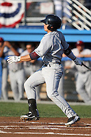 Mahoning Valley Scrappers shortstop Tony Wolters #1 during a game against the Batavia Muckdogs at Dwyer Stadium on July 5, 2011 in Batavia, New York.  Batavia defeated Mahoning Valley 2-1.  (Mike Janes/Four Seam Images)