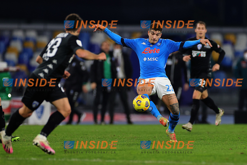 Giovanni Di Lorenzo of SSC Napoli in action during the Italy Cup football match between SSC Napoli and Empoli FC at stadio Diego Armando Maradona in Napoli (Italy), January 13, 2021. <br /> Photo Cesare Purini / Insidefoto