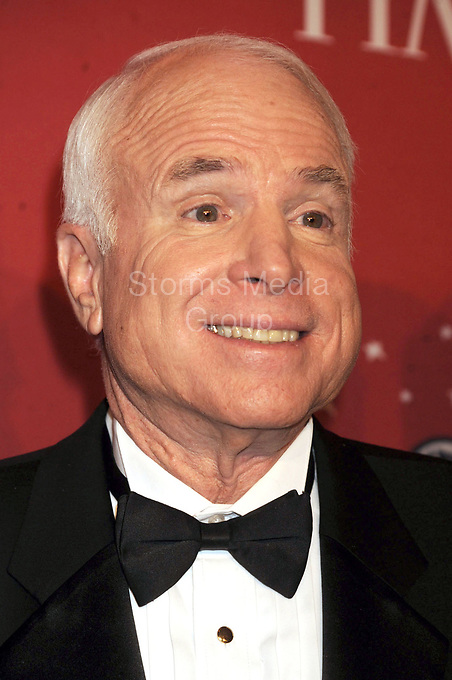 NEW YORK - MAY 08: John McCain  attends Time's 100 Most Influential People in the World gala at Jazz at Lincoln Center on May 8, 2008 in New York City<br /> <br /> People:  John McCain