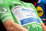 Green Jersey Fabio Jakobsen (NED) Deceuninck-Quick Step at sign on before the start of Stage 9 of La Vuelta d'Espana 2021, running 188km from Puerto Lumbreras to Alto de Velefique, Spain.    <br /> Picture: Unipublic/Charly Lopez   Cyclefile<br /> <br /> All photos usage must carry mandatory copyright credit (© Cyclefile   Charly Lopez/Unipuplic)