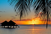 Moorea, Huahine, and Tahiti islands, in French Polynesia, South Pacific.