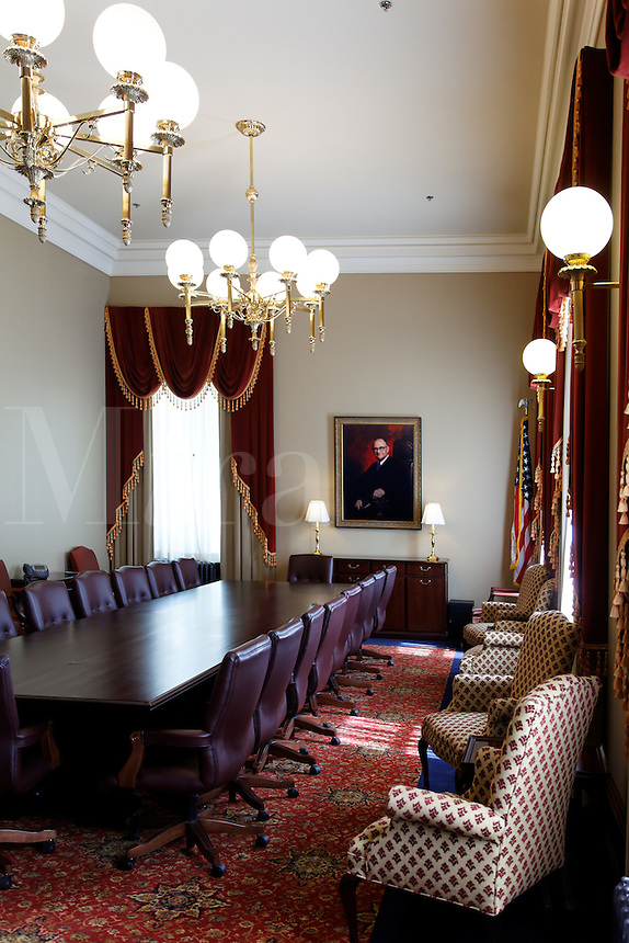 Conference room in the Pioneer Courthouse, Portland, Multnomah County, Oregon, USA
