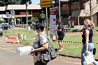 Campinas (SP), 02/04/2020 - Covid-19/Unicamp - A Universidade de Campinas (Unicamp), sinalizou externamente e internamente nesta quinta-feira (2), faixas com informações sobre os locais de atendimento para pronto atendimento do Covid-19.