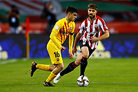 17th April 2021; Olmpico de La Cartuja stadium, Seville, Spain; Copa del Rey Football final, Athletic Bilbao versus FC Barcelona;  Pedro Gonzalez Pedri of FC Barcelona and Yeray lvarez of Athletic Club