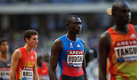 06 JUL 2012 - PARIS, FRA - David Rudisha of Kenya (centre) waits for the start of the men's 800m race during the 2012 Meeting Areva held in the Stade de France in Paris, France .(PHOTO (C) 2012 NIGEL FARROW)