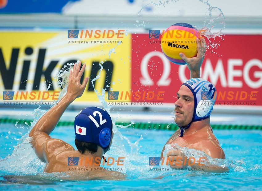 ARG-JPN<br /> Argentina Vs JPNan<br /> DEMARCHI Franco ARG<br /> HAZUI Shota JPN<br /> Day 10 02/08/2015<br /> XVI FINA World Championships Aquatics<br /> Waterpolo<br /> Kazan Tatarstan RUS July 24 - Aug. 9 2015 <br /> Photo Pasquale Mesiano/Deepbluemedia/Insidefoto