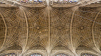 UK, England, Cambridge.  King's College Chapel, Ceiling Vaulting.
