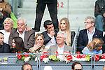 Ex futbol player Luis Figo with his wife Helen Svedin during  TPA Finals Mutua Madrid Open Tennis 2016 in Madrid, May 08, 2016. (ALTERPHOTOS/BorjaB.Hojas)