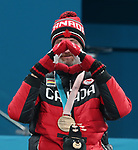 Jaime Anseeuw, PyeongChang 2018 - Wheelchair Curling // Curling en fauteuil roulant.<br /> Jamie Anseeuw receives the bronze medal // Jamie Anseeuw reçoit la médaille de bronze. 17/03/2018.