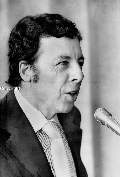 1975 FILE PHOTO -<br /> <br /> Financier Robert Campeau. A Liberal supporter