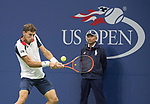 Pablo Carreno Busta plays at the US Open being played on September  3, 2017 at Billy Jean King National Tennis Center in Flushing, Queens, New York.  ©Leslie Billman/EQ