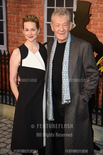 "Laura Linney & Sir Ian McKellan at the UK premiere of ""Mr Holmes"" at the Odeon Kensington, London<br /> June 10, 2015  London, UK<br /> Picture: Steve Vas / Featureflash"