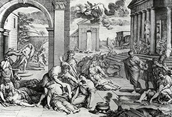 The Plague Of Epirus, Pierre Mignard, (1612-1695 French)