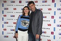 VIRGINIE LEDOYEN, THIERRY NEUVIC - PHOTOCALL 'JUSTE UN REGARD' AU CINEMA GAUMONT MARIGNAN A PARIS, FRANCE, LE 11/05/2017.