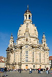 Deutschland, Freistaat Sachsen, Dresden: Frauenkirche am Neumarkt | Germany, the Free State of Saxony, Dresden: church of our lady at Neumarkt square