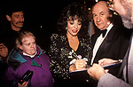 Joan Collins 1990s UK. Attends a film premier in Birmingham 1995