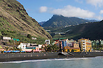 Spain, Canary Islands, La Palma, Puerto de Tazacorte: resort with black sandy beach