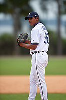 Detroit Tigers Ken Figueroa (56) during a minor league Spring Training game against the Washington Nationals on March 28, 2016 at Tigertown in Lakeland, Florida.  (Mike Janes/Four Seam Images)