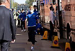 Rangers v St Johnstone…25.04.21   Ibrox.  Scottish Cup<br />Ali McCann makes his way into Ibrox after arriving for this evenings Scottisah Cup tie against Rangers<br />Picture by Graeme Hart.<br />Copyright Perthshire Picture Agency<br />Tel: 01738 623350  Mobile: 07990 594431