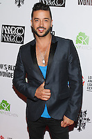 LOS ANGELES, CA, USA - OCTOBER 14: Jai Rodriguez arrives at the Marco Marco: Collection Three 2015 Runway Presentation held at the Viviana Cathedral on October 14, 2014 in Los Angeles, California, United States. (Photo by Rudy Torres/Celebrity Monitor)