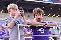 Orlando, FL - Saturday Sept. 24, 2016: Fans during a regular season National Women's Soccer League (NWSL) match between the Orlando Pride and FC Kansas City at Camping World Stadium.