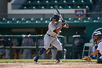Detroit Tigers Wenceel Perez (80) bats during a Florida Instructional League intrasquad game on October 24, 2020 at Joker Marchant Stadium in Lakeland, Florida.  (Mike Janes/Four Seam Images)