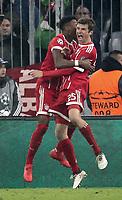 20.02.2018, Allianz Arena, Muenchen, GER, UEFA CL, FC Bayern Muenchen (GER) vs Besiktas Istanbul (TR) , <br />David Alaba and Thomas Mueller (Muenchen) goal 1:0<br /><br /><br /> *** Local Caption *** © pixathlon<br /> Contact: +49-40-22 63 02 60 , info@pixathlon.de