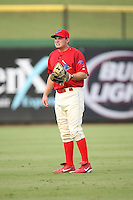 August 12, 2008: Alan robbins (6) of the Clearwater Threshers at Bright House Field in Clearwater, FL. Photo by: Chris Proctor/Four Seam Images