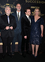 """October 12, 2021. Brian Cox, Jesse Armstrong, Kieran Culkin, ,J. Smith-Cameron, Alan Ruck attend HBO's """"Succession"""" Season 3 Premiere at the  American Museum of Natural History in New York October 12, 2021 Credit: RW/MediaPunch"""