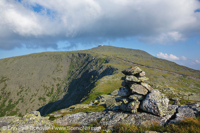 Mount Washington from Mount Clay in Thompson and Meserve's Purchase, New Hampshire. The Appalachian Trail crosses over the summit of Mount Washington.