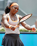 Serena Williams, USA, during Madrid Open Tennis 2015 match.May, 8, 2015.(ALTERPHOTOS/Acero)