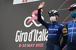 Remco Evenepoel (BEL) Deceuninck-Quick Step at sign on before the start of Stage 3 of the 2021 Giro d'Italia, running 190km from Biella to Canale, Italy. 10th May 2021.  <br /> Picture: LaPresse/Gian Mattia D'Alberto | Cyclefile<br /> <br /> All photos usage must carry mandatory copyright credit (© Cyclefile | LaPresse/Gian Mattia D'Alberto)