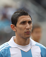 Argentina midfielder Angel Di Maria (7). In an international friendly (Clash of Titans), Argentina defeated Brazil, 4-3, at MetLife Stadium on June 9, 2012.