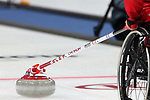 PyeongChang 2018 - Wheelchair Curling // Curling en fauteuil roulant.<br /> Canada competes in Wheelchair curling // Le Canada participent au curling en fauteuil roulant. 15/03/2018.