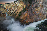 Lower Falls on Yellowstone River, Yellowstone National Park.