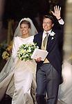 The church Wedding  of Prince Constantijn & Princess Laurentien of Holland, at Grote of St Jacobskerk, in Den Haag, Holland