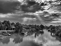 Waterway in the Mekong Delta, near Vinh Long, Vietnam
