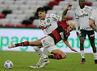 30th May 2021; Maracana Stadium, Rio de Janeiro, Brazil; Brazilian Serie A, Flamengo versus Palmeiras; Pedro of Flamengo is heavily challenged by Gustavo Gómez of Palmeiras
