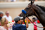JULY 25, 2021: Murray gets a pat from Jill Baffert after winning his maiden at Del Mar Fairgrounds in Del Mar, California on July 25, 2021. Evers/Eclipse Sportswire/CSM