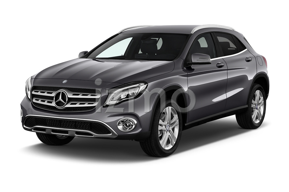 2018 Mercedes Benz GLA Base 5 Door SUV angular front stock photos of front three quarter view