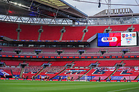 General view during the Sky Bet League 2 PLAY-OFF Final match between Exeter City and Northampton Town at Wembley Stadium, London, England on 29 June 2020. Photo by Andy Rowland.