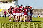 Causeway players before the Kerry County Senior Hurling Championship Final match between Kilmoyley and Causeway at Austin Stack Park in Tralee