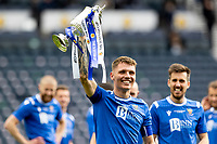 22nd May 2021; Hampden Park, Glasgow, Scotland; Scottish Cup Football Final, St Johnstone versus Hibernian Jason Kerr of St Johnstonee lifts the Scottish cup  after winning the final by the score of 1-0