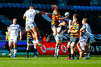 25th April 2021; Ricoh Arena, Coventry, West Midlands, England; English Premiership Rugby, Wasps versus Bath Rugby; Josh Bassett of Wasps takes an aerial ball